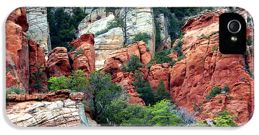 Sedona IPhone 5 / 5s Case featuring the photograph Gray And Orange Sedona Cliff by Carol Groenen