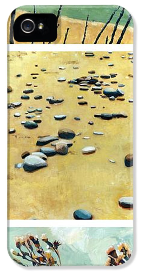 Original IPhone 5 / 5s Case featuring the painting Great Lakes Triptych 2 by Michelle Calkins
