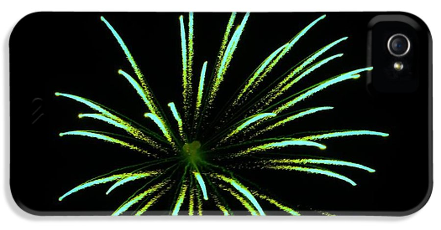 Fire IPhone 5 / 5s Case featuring the photograph Green Lights Up The Sky by Cynthia N Couch