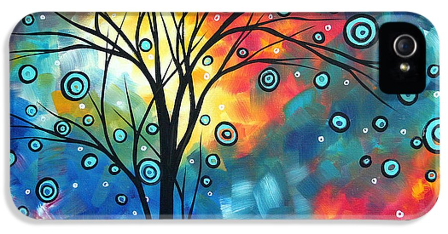 Wall IPhone 5 / 5s Case featuring the painting Greeting The Dawn By Madart by Megan Duncanson
