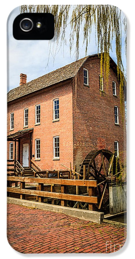 1800's IPhone 5 / 5s Case featuring the photograph Grist Mill In Deep River County Park by Paul Velgos