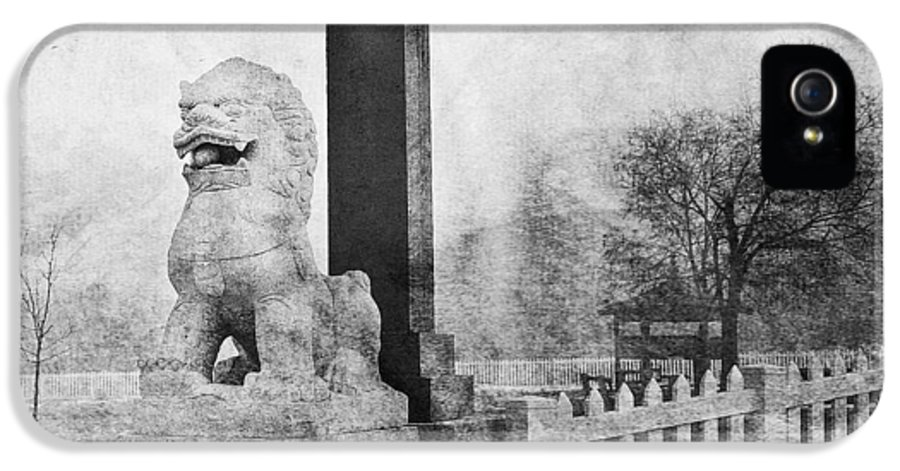 Cemetary IPhone 5 / 5s Case featuring the photograph Guardian Of The Gate by Theresa Tahara