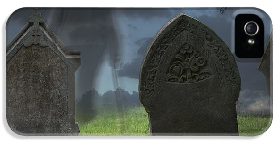 Halloween IPhone 5 / 5s Case featuring the photograph Halloween Graveyard by Amanda And Christopher Elwell