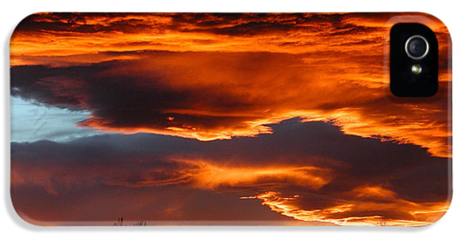 Fort Collins IPhone 5 / 5s Case featuring the photograph Halloween Sunset by Tim Nielsen