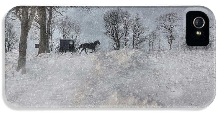 Winter IPhone 5 / 5s Case featuring the photograph Happy Holidays From Pa by Lori Deiter