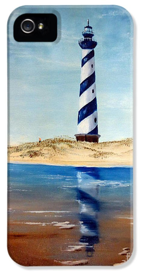 Lighthouse Painting IPhone 5 / 5s Case featuring the painting Hatteras Lighthouse by Lee Piper