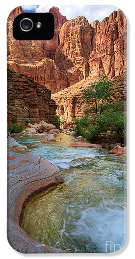 America IPhone 5 / 5s Case featuring the photograph Havasu Creek by Inge Johnsson