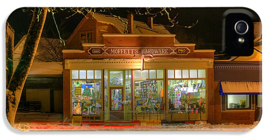 Sussex Nb IPhone 5 / 5s Case featuring the photograph Hdr Moffett's Hardware Winter Sussex Night by Jamie Roach