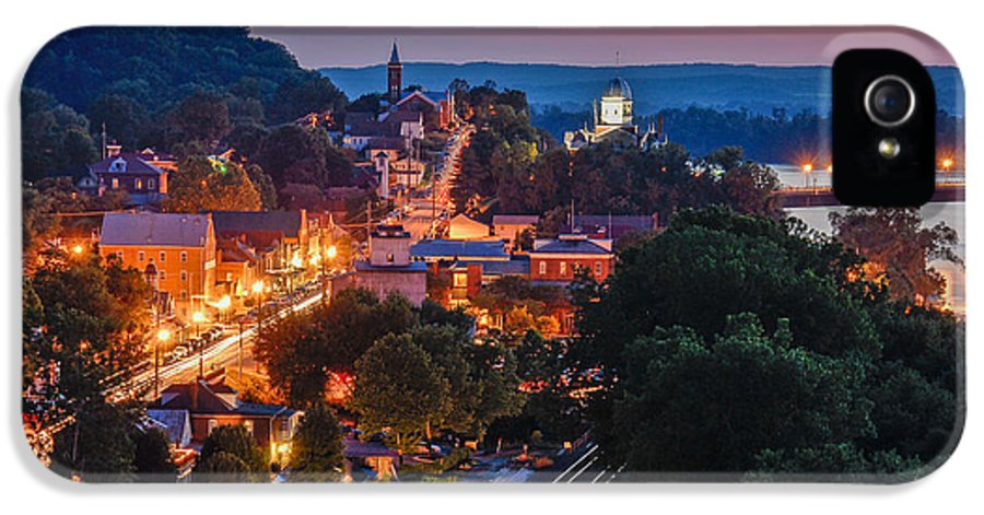 Night IPhone 5 / 5s Case featuring the photograph Hermann Missouri - A Most Beautiful Town by Tony Carosella