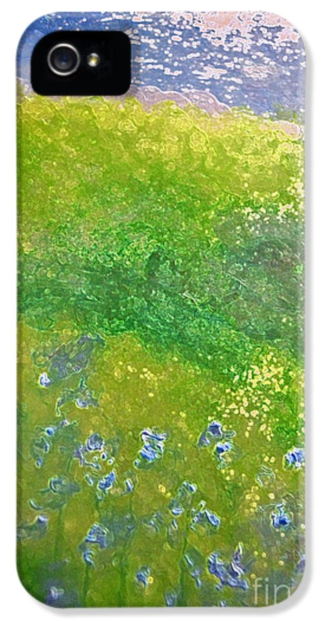 First Star Art IPhone 5 / 5s Case featuring the painting Hillside By Jrr by First Star Art