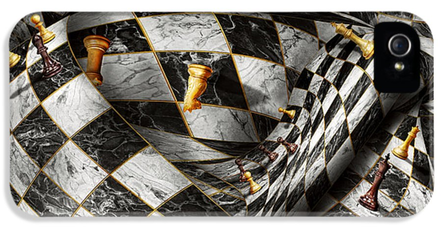 Chess IPhone 5 / 5s Case featuring the digital art Hobby - Chess - Your Move by Mike Savad