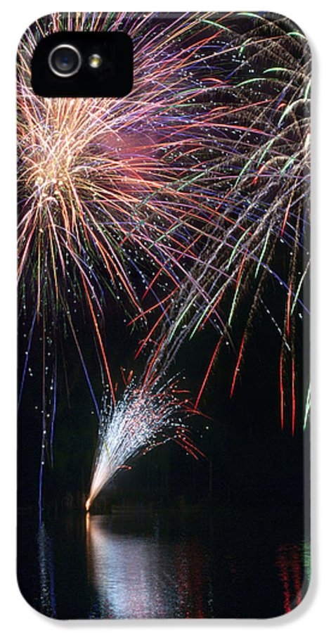 Fireworks IPhone 5 / 5s Case featuring the photograph Home Of The Brave Fireworks by Christina Rollo