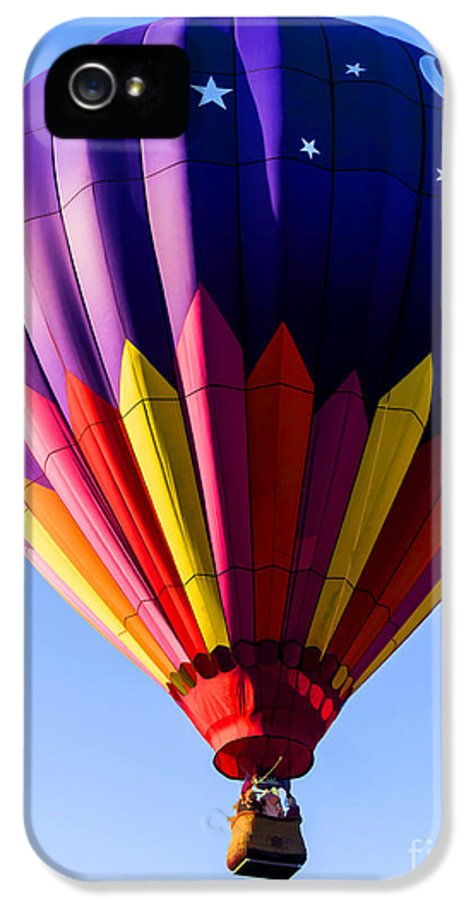 Hot IPhone 5 / 5s Case featuring the photograph Hot Air Ballooning In Vermont by Edward Fielding