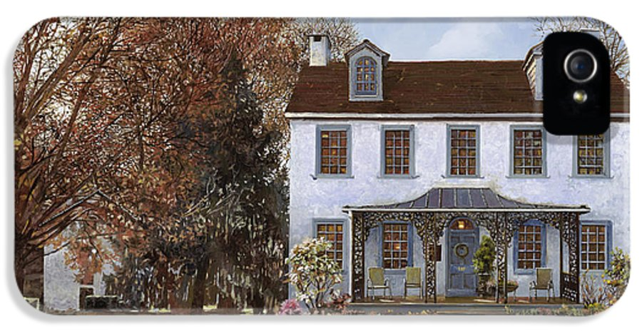 Du Portail IPhone 5 / 5s Case featuring the painting house Du Portail by Guido Borelli