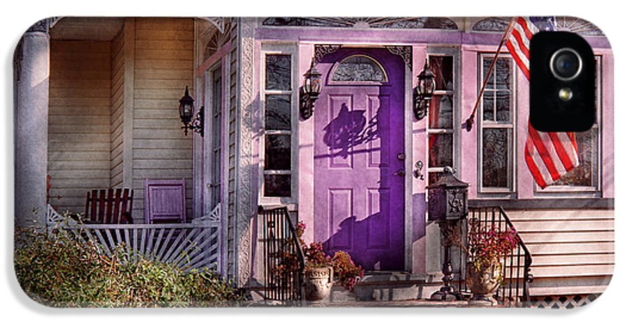 Victorian IPhone 5 / 5s Case featuring the photograph House - Porch - Cranford Nj - Lovely In Lavender by Mike Savad