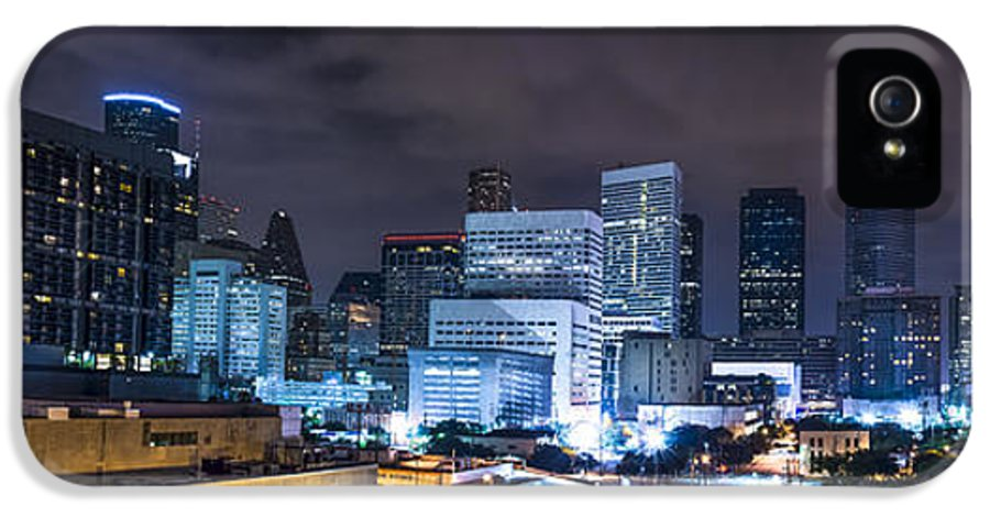 Houston House IPhone 5 / 5s Case featuring the photograph Houston City Lights by David Morefield