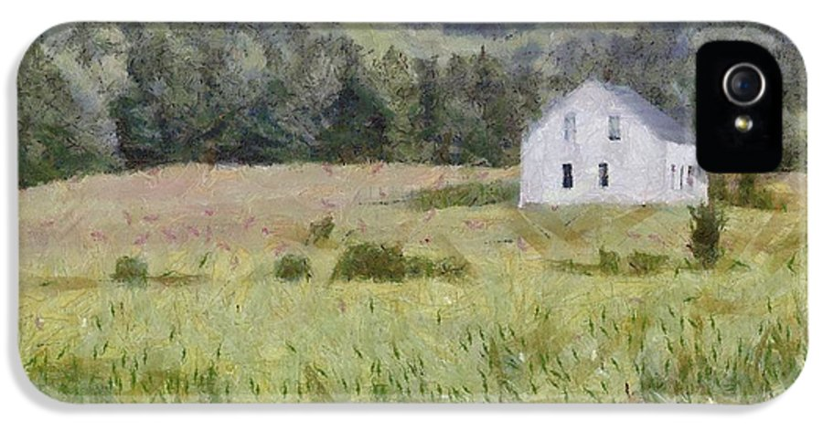Alone IPhone 5 / 5s Case featuring the painting Idyllic Isolation by Jeff Kolker