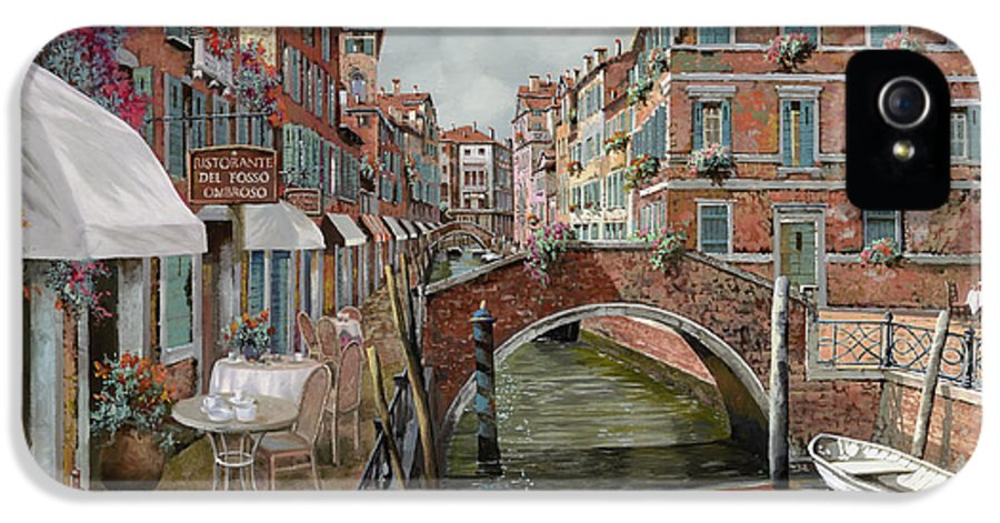 Venice IPhone 5 / 5s Case featuring the painting Il Fosso Ombroso by Guido Borelli