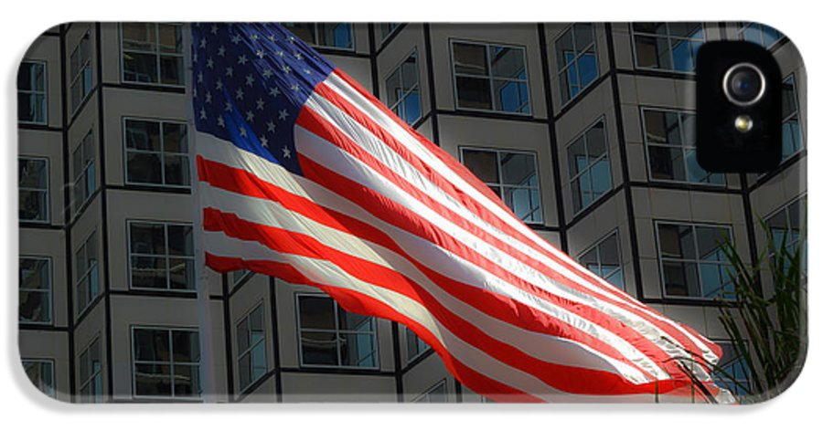 American Flag IPhone 5 / 5s Case featuring the photograph I'll Love You Long After Im Gone by Rene Triay Photography