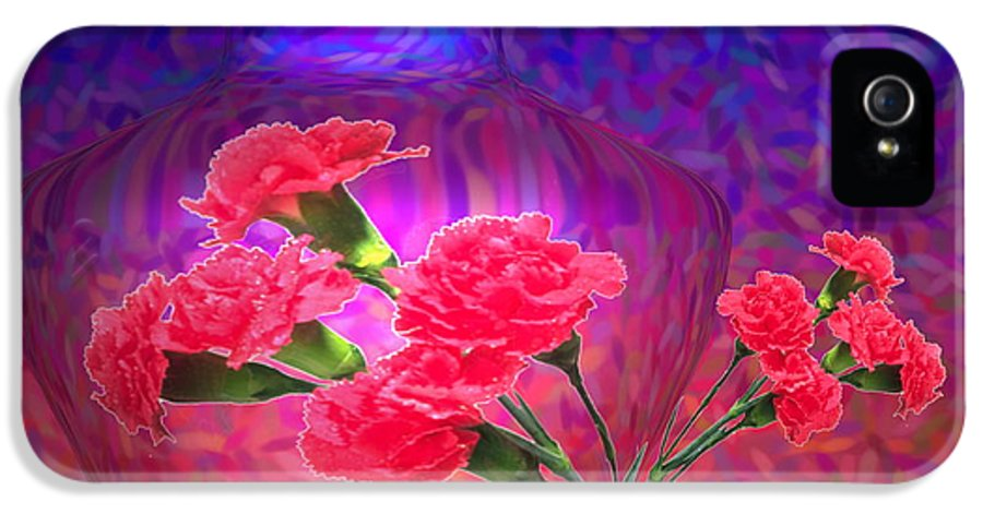 Carnations IPhone 5 / 5s Case featuring the photograph Impressions Of Pink Carnations by Joyce Dickens