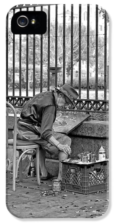 French Quarter IPhone 5 / 5s Case featuring the photograph In Another World Monochrome by Steve Harrington