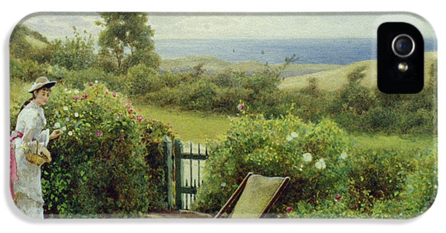 In The Garden IPhone 5 / 5s Case featuring the painting In The Garden by Thomas James Lloyd