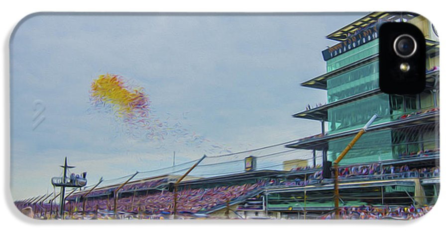 Indy 500 IPhone 5 / 5s Case featuring the photograph Indianapolis 500 May 2013 Balloons Race Start by David Haskett