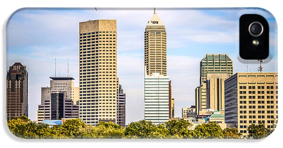 America IPhone 5 / 5s Case featuring the photograph Indianapolis Skyline Picture by Paul Velgos