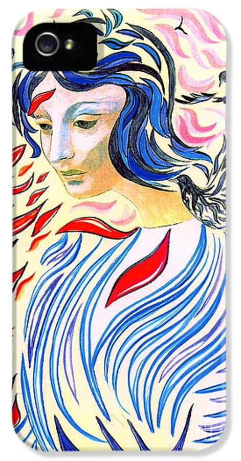 Mystical IPhone 5 / 5s Case featuring the painting Inner Peace by Jane Small