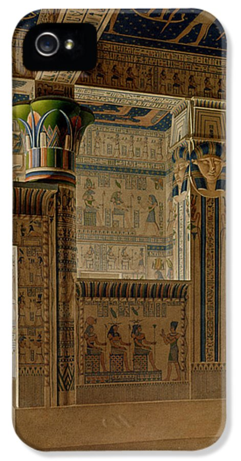 Print IPhone 5 / 5s Case featuring the drawing Interior View Of The West Temple by Le Pere