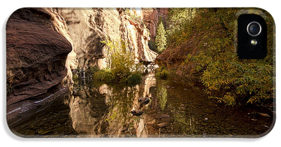 Fall IPhone 5 / 5s Case featuring the photograph Into The Canyon by Saija Lehtonen
