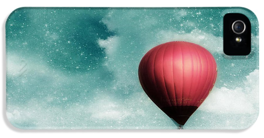 Hot Air Balloon IPhone 5 / 5s Case featuring the photograph Into The Night by Amy Tyler