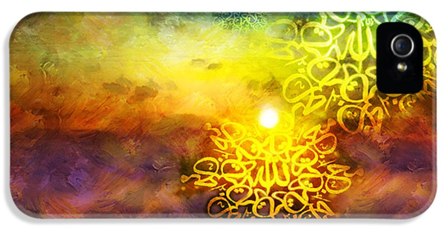 Islamic IPhone 5 / 5s Case featuring the painting Islamic Calligraphy 020 by Catf