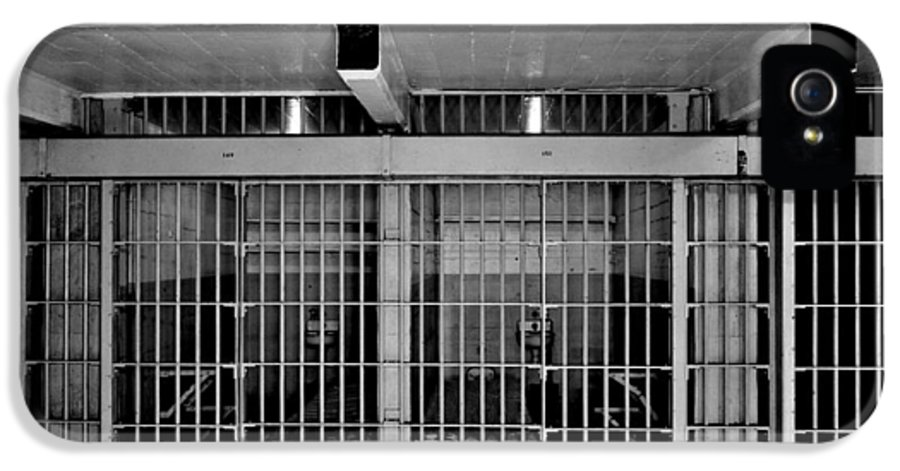 Alcatraz IPhone 5 / 5s Case featuring the photograph Jail Cells by Benjamin Yeager