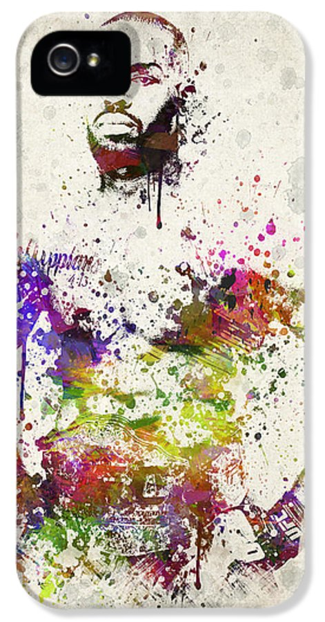Jon Jones IPhone 5 / 5s Case featuring the drawing Jon Jones by Aged Pixel