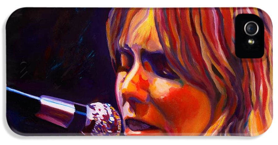 Singer-songwriter IPhone 5 / 5s Case featuring the painting Joni Mitchell..legend by Vel Verrept