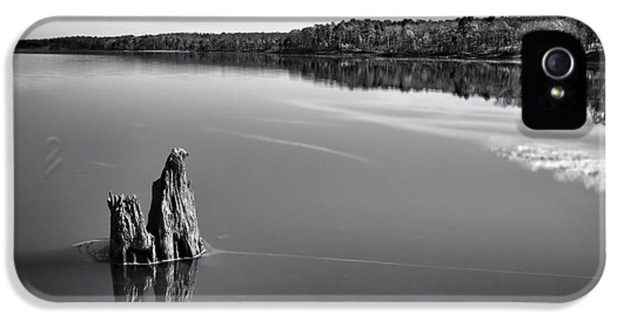 Jordan Lake IPhone 5 / 5s Case featuring the photograph Jordan Lake Reflections II by Ben Shields