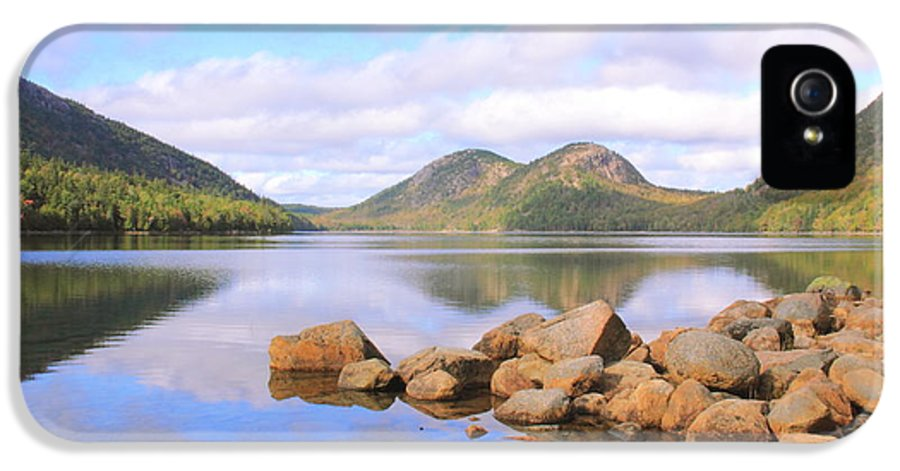 Jordan Pond IPhone 5 / 5s Case featuring the photograph Jordan Pond by Roupen Baker