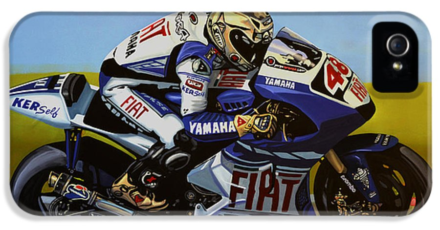 Jorge Lorenzo IPhone 5 / 5s Case featuring the painting Jorge Lorenzo by Paul Meijering