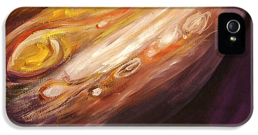 Jupiter IPhone 5 / 5s Case featuring the painting Jupiter by Sheila Diemert