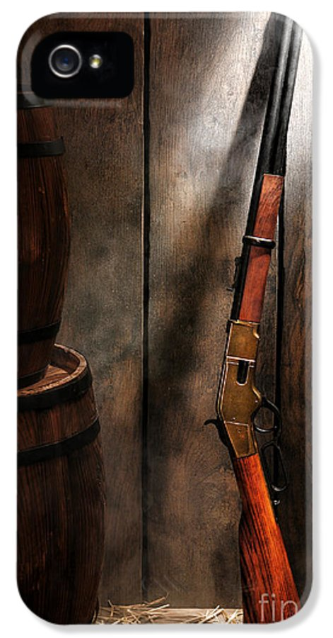 Western IPhone 5 / 5s Case featuring the photograph Keeping The Stockroom by Olivier Le Queinec