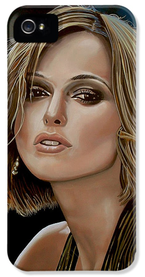 Keira Knightley IPhone 5 / 5s Case featuring the painting Keira Knightley by Paul Meijering