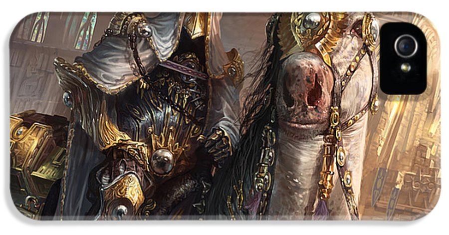 Magic The Gathering IPhone 5 / 5s Case featuring the digital art Knight Of Obligation by Ryan Barger