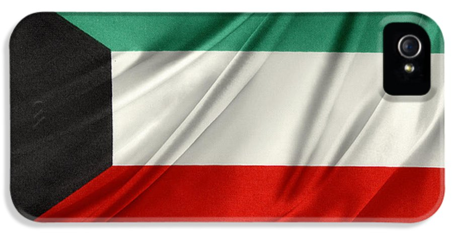 Flag IPhone 5 / 5s Case featuring the photograph Kuwait Flag by Les Cunliffe