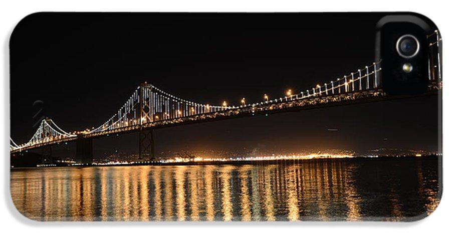 Bay Bridge IPhone 5 / 5s Case featuring the photograph L E D Lights On The Bay Bridge by David Bearden