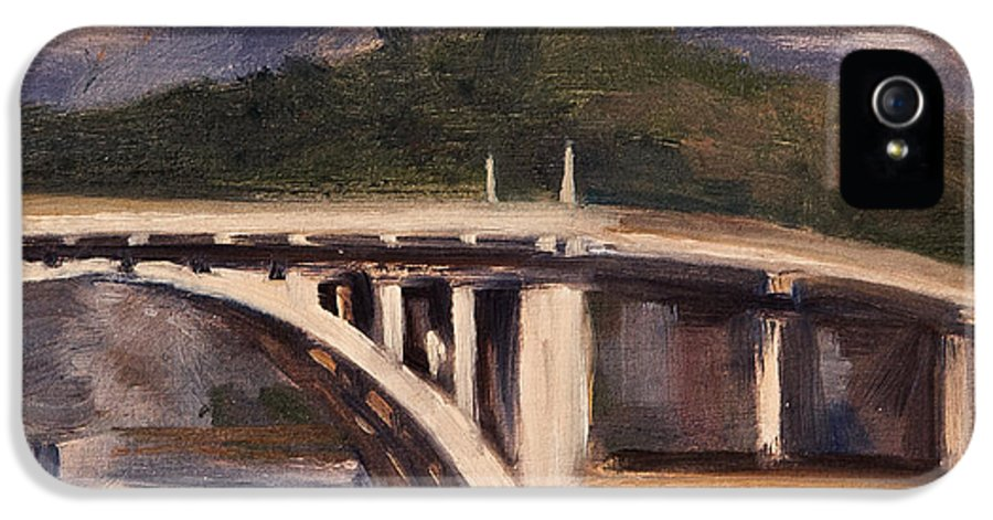 Los Angeles River IPhone 5 / 5s Case featuring the painting La Wash by Athena Mantle