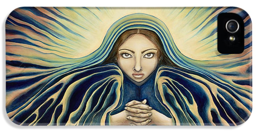 Virgin Mary IPhone 5 / 5s Case featuring the painting Lady Of Light by Lyn Pacificar