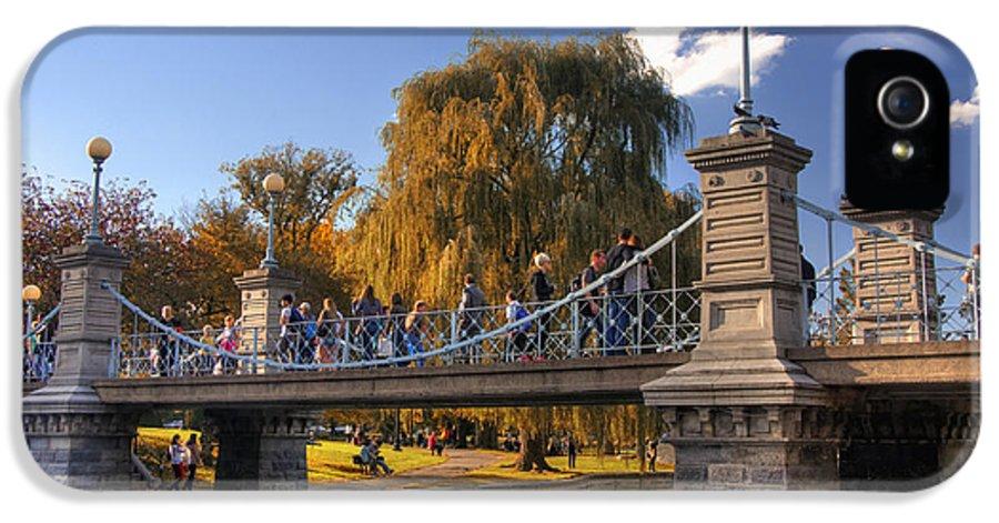 Willow IPhone 5 / 5s Case featuring the photograph Lagoon Bridge In Autumn by Joann Vitali