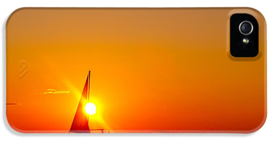 Lake Michigan IPhone 5 / 5s Case featuring the photograph Lake Michigan Sunset by Bill Gallagher