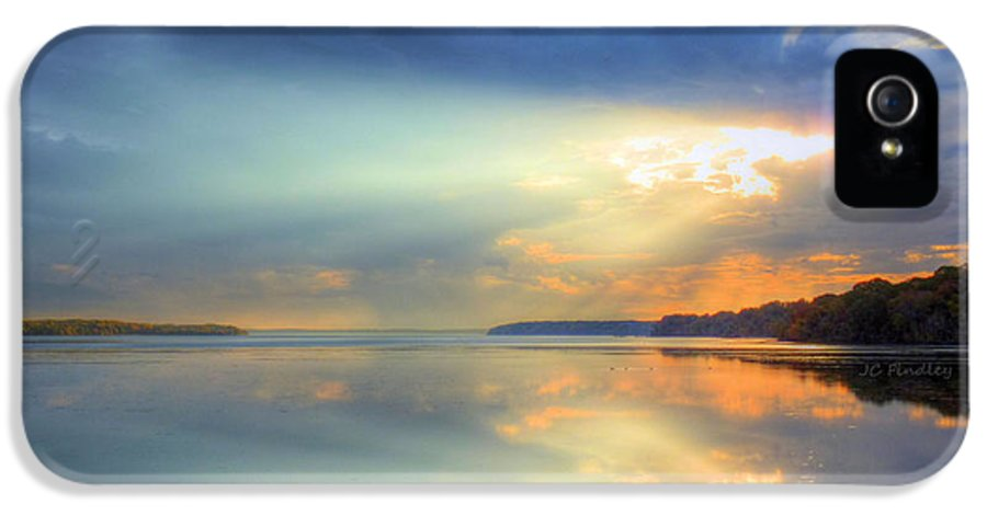 Sun Rays IPhone 5 / 5s Case featuring the photograph Let There Be Light by JC Findley